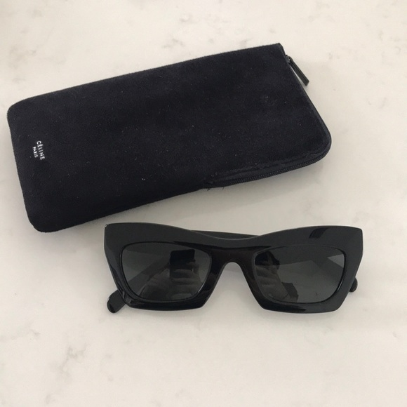 adac30b5ea77 Celine Accessories - CÉLINE Black Sunglasses